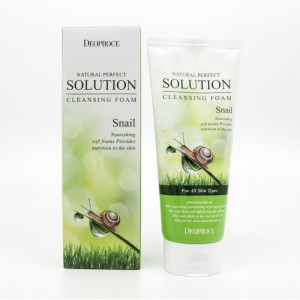 Пенка для умывания с улиткой DEOPROCE NATURAL PERFECT SOLUTION CLEANSING FOAM SNAIL (170g)